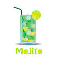 glass with a cocktail mojito vector image