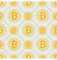 gold bitcoin pattern cryptocurrency with lines vector image vector image