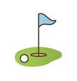 golf course color icon vector image