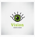 Green Eye Logo vision vector image