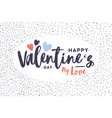 greeting card or postcard template with happy vector image vector image