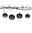 hanging pumpkins vector image vector image
