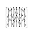 High Garden Metal Latice Fencing Design vector image vector image