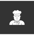 Icon chef in white hat made in the style of vector image vector image