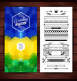image of blue yellow and green wedding invitation vector image vector image
