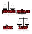 Justice and law vector image