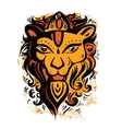 Lion head Ethnic pattern vector image