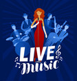 live music poster musical festival concert vector image