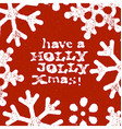 Merry Christmas Grunge Postcard Design On Red vector image vector image