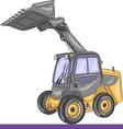 mini bulldozer vector image vector image