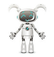 modern cute girl female android robot character vector image