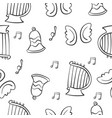 music theme doodles vector image