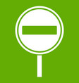 no entry sign icon green vector image vector image