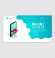 online payment landing page concept vector image vector image