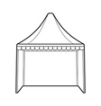 outline folding tent marquee vector image