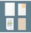 Paper notes sheet for message vector image vector image