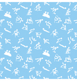 Pattern with winter sports icons