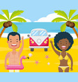people vacations summer time vector image vector image