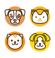 Pet linear icons vector image