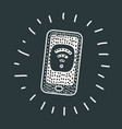 phone with free wifi on the screen vector image vector image