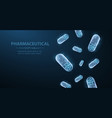 pills abstract 3d polygonal wireframe two capsule vector image vector image