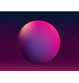 planet in space abstract background with gradient vector image vector image