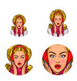 pop art social network user avatars of vector image