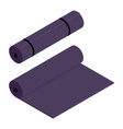 purple yoga mat isolated on white background vector image vector image