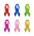 Realistic set of ribbons vector image vector image