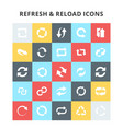 refresh and reload icons vector image