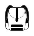 school backpack symbol vector image vector image