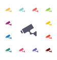 security camera flat icons set vector image vector image