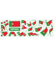 set national flag portugal in vector image