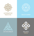 Set of abstract logos vector image vector image