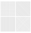 Set of monochrome hatch seamless patterns vector image vector image