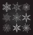 set of nine vintage christmas vector image vector image