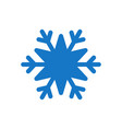 snowflake blue icon cartoon snow flake sign vector image