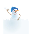 snowman snowball playing in snowball vector image vector image
