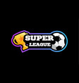 soccer super league emblem sport european vector image