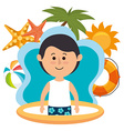 Summer vacations and travel vector image vector image