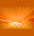 sunburst sunrise vector image