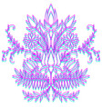 symmetrical flowers pink and blue ornament vector image vector image