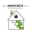 template hemp icon 4 vector image vector image