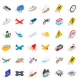 traffic light icons set isometric style vector image vector image