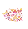 Triangular space design Abstract watercolor vector image vector image