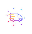 truck delivery line icon express service sign vector image vector image