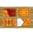 Visiting card and business card with mandala vector image vector image