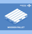 wooden pallet icon isometric template vector image vector image