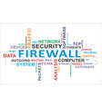 word cloud firewall vector image vector image