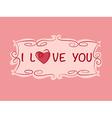 Love heart copy vector image